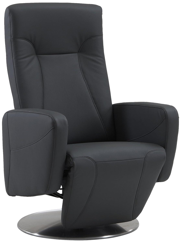 Sino-Living SE-814 Relax- und Ruhesessel in Dickleder, grau mit motorischer Verstellung