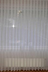 Sable Store Gardine mit Effektgarn Fertig genäht Kräuselband in versch. B/H (450cm x 160cm)    Kundenbewertung:
