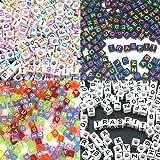 Trasfit 800 Pieces 4 Color Acrylic Alphabet Letter