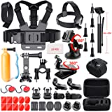 41-in-1 Action Camera Accessories Kit for GoPro Hero 6/GoPro Fusion/Hero 5/Session 5/4/3+/3/2/1/SJ4000/5000/6000/AKASO/Xiaomi Yi 4K and More by Mogomiten(41 Items) (Color: GP01)