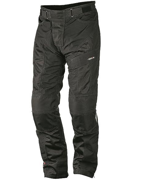 NERVE 1511071204_04 Run Boy Pantalon Moto d'Eté Textile, Noir, Taille : L