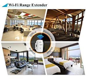 WiFi Extender Range Booster, 300Mbps WiFi Repeater Wireless Signal Amplifier Internet Blast, Easy Setup & Full Coverage Network Adapter, Eliminate Home WiFi Dead Zones (New Version) (Color: New WiFi Extender, Tamaño: Small)