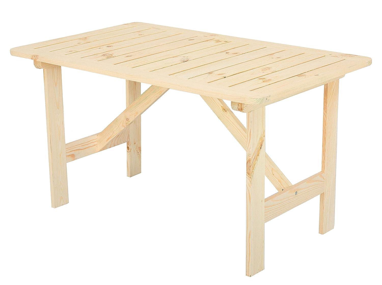 GARDENho.me Massivholz Tisch HAMAR Tisch Gartentisch Holztisch, Gartenmöbel natur günstig bestellen