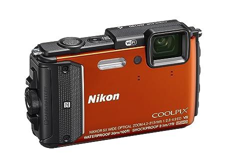 Nikon AW130 Appareil Photo Numérique Compact 16 Mpix zoom 5 x Mini-USB, Wi-Fi Orange