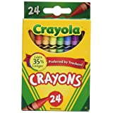 Crayola Crayons 24 Count - 2 Packs (52-3024) (Color: 2 Packs, Tamaño: Pack of 2)