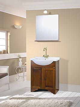 Prezzi mobile da bagno classico in legno con lavabo arte for Mobile bagno rustico moderno