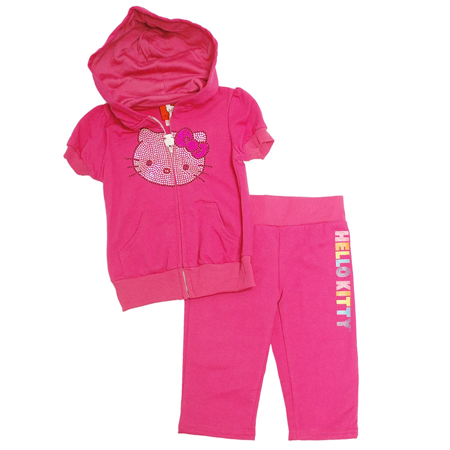 Hello Kitty Little Girls' Rhinestone 2-Piece Jogging Set
