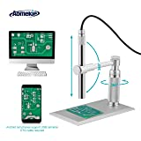 Aomekie USB Digital Microscope Magnifier Camera Video 200X Zoom 1600x1200 HD 2MP PCB Inspection Handheld Endoscope with 8 LED Lights and CMOS Sensor for Mac Windows PC Android Phone (Color: Digital Microscope for PC)