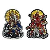 SpaceCar Japan Samurai Armour & Vikings Warrior Armour Military Tactical Morale Badge Hook & Loop Fastener Patches 3.74