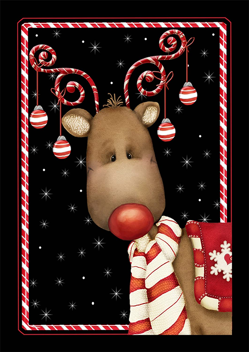 candy cane reindeer flag Image Amazon