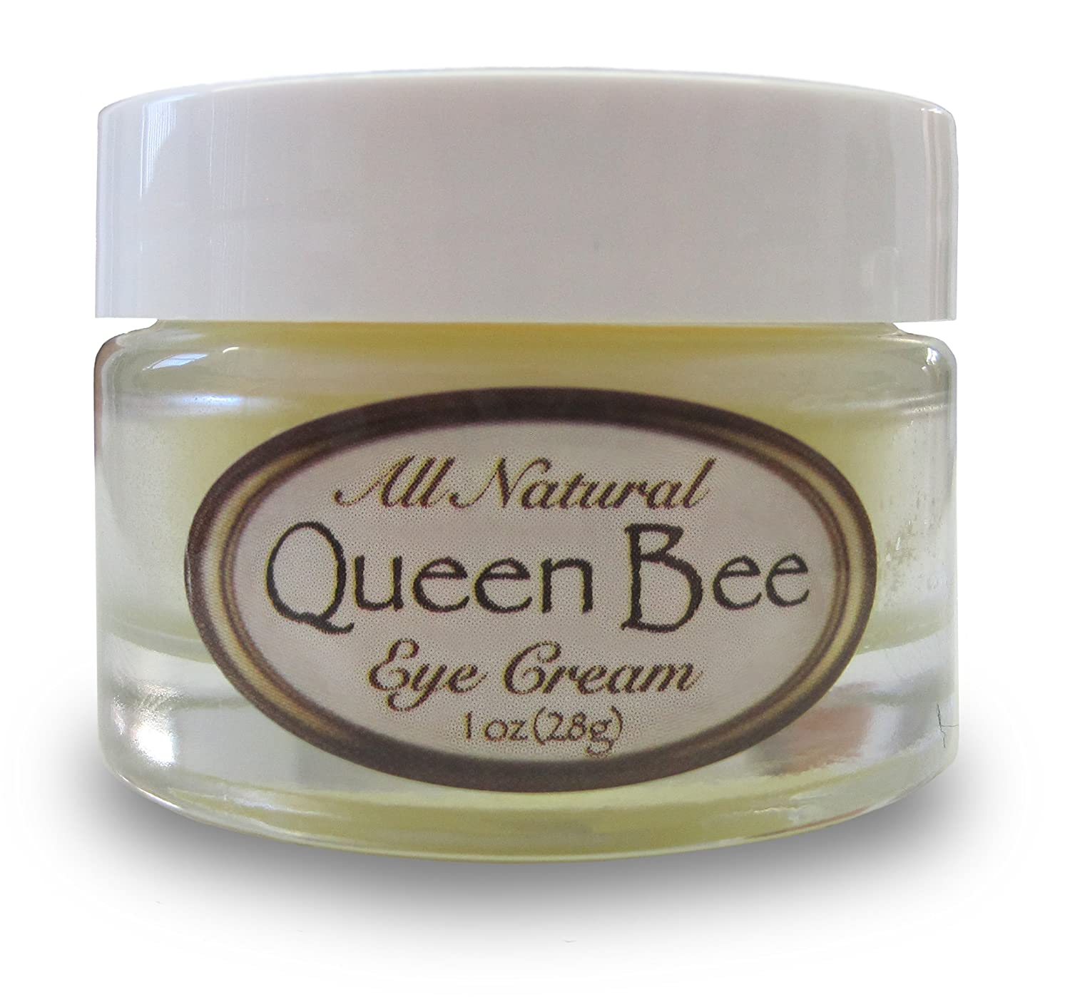 Queen Bee 100% All-Natural, Organic Under Eye Cream - Removes Dark Circles, Facial Lines and Wrinkles Naturally - 1oz (30ml)
