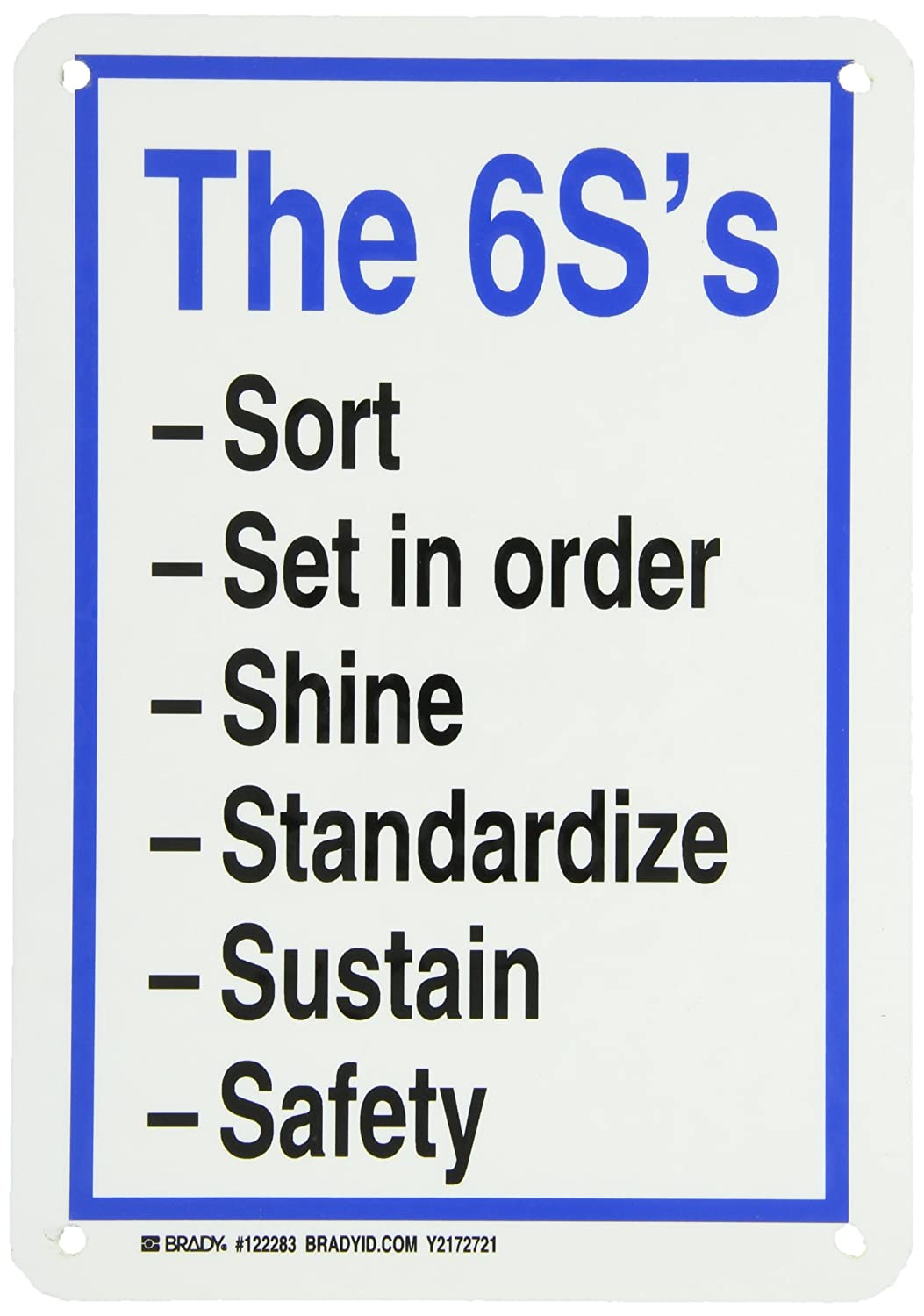 brady-122283-fiberglass-remember-6-s-sign-10-x-7-legend-the-6s-sort-set-in-order-shine-standardize-sustain-safety