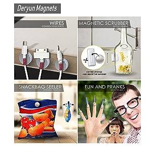 Deryun 80 Pack 8X3mm Refrigerators Magnets Fridge Magnets for Whiteboard