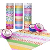 Washi Tape Set of 30 Rolls - All Girls Favorite, Great For Arts and Crafts, DIY, Scrapbook -Decorative, Creative, Re-positional, Multi-purpose, Masking tape. (Color: 30 Rolls)