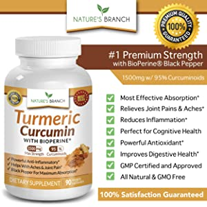 Extra Strength Turmeric Curcumin with BioPerine Black Pepper