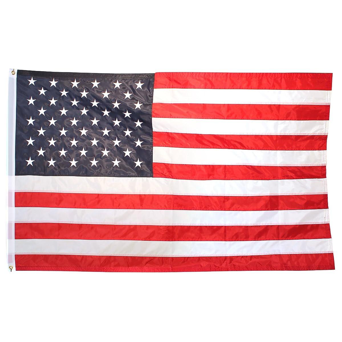 Flags Unlimited U.S. Nylon Flag - 3x5 Feet - Printed Stars and Stripes