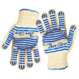 Revolutionary EN407 Standard Gulife oven glove withstands heat up to 662F over 15S - EN407 Standard level3 - Gift box packaging(2 gloves included) (Color: Standard length cuff)