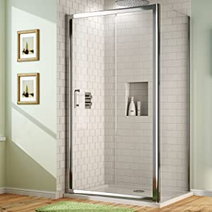 1200 x 900mm Sliding Glass Door Corner Shower Enclosure with Glass Side Panel Set  iBath       Customer review and more information