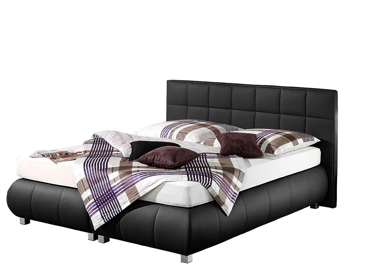 Maintal Betten 234239-4693 Boxspringbett Elias 160 x 200 cm, schwarz