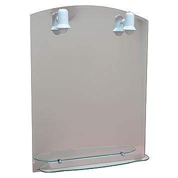badspiegel mit licht spiegel mit beleuchtung 79cm x 60cm bad wc flur dc522. Black Bedroom Furniture Sets. Home Design Ideas