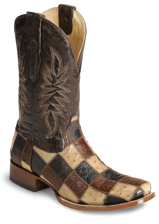 corral boots men u0027s orix congo patchwork multi color ostrich