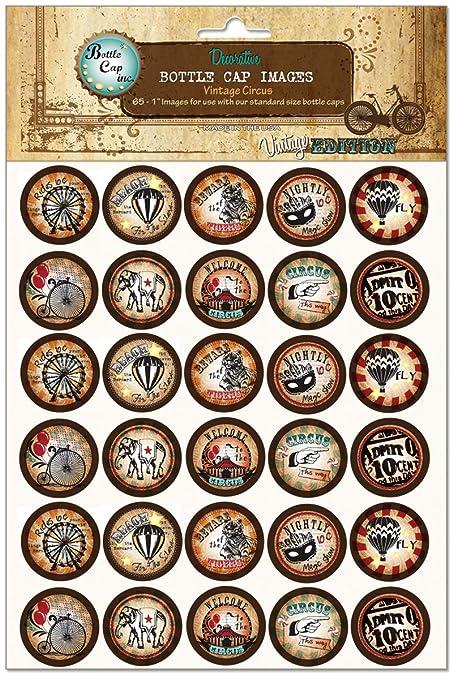 """Bouchon de bouteille de Collection Vintage Images 1 """"65/Pkg-Vintage Circus"""