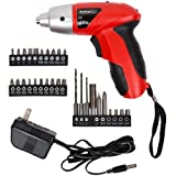 Stalwart 25 piece 4.8V Cordless Screwdriver with LED (Tamaño: 4.8 volt, 25 pieces)