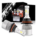 DJI 4X4 9007 LED Headlight Bulbs Conversion Kit, HB5 Hi/Lo Dual Beam CREE Chips 150W 15000 Lumen 6000K Cool White - 1 Pair (Tamaño: 9007)