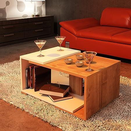 Mesa de centro Modern (blanco/marrón