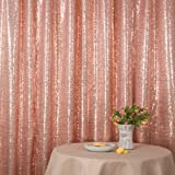 Rose Pink Party Delight Satin Non-Transparent Sequin Backdrop, Photography, 4Ft x 6Ft (Color: Rose Pink, Tamaño: 4FTx6FT)