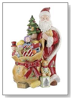 Spode Christmas Tree Sculpted Christmas Eve Santa Cookie Jar