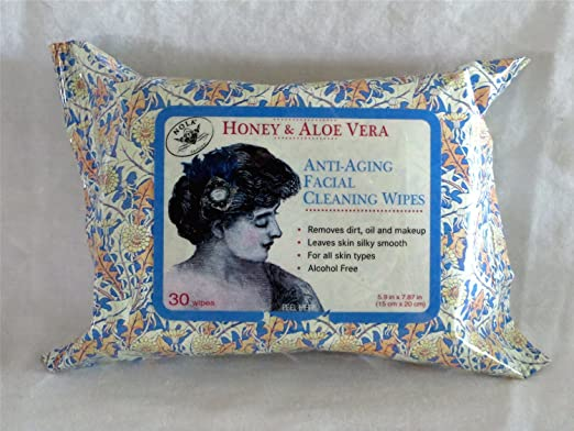 Honey & Aloe Vera Anti-Aging Facial Cleaning Wipes 30 Count Pack
