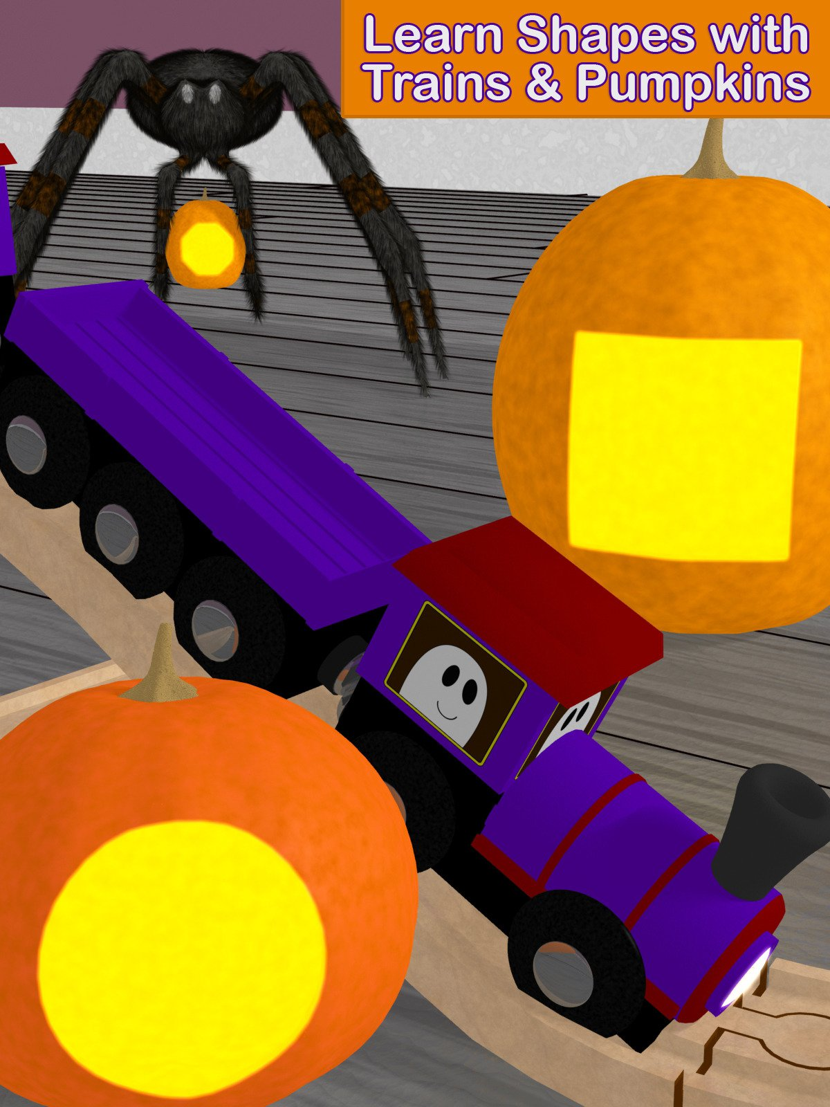 Learn Shapes with Trains & Pumpkins