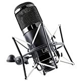 MXL Cr89 Premium Low Noise Condenser Microphone with Shock Mount and Flight Case (Color: Black Chrome)