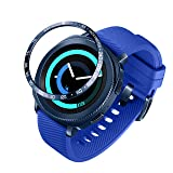 ANCOOL Compatible Samsung Galaxy Watch 42mm/Gear Sport Bezel Ring Adhesive Cover Anti Scratch Stainless Steel Protector Design for Galaxy Watch 42mm/Gear Sport -Blue (Color: Q-11, Tamaño: 42mm)