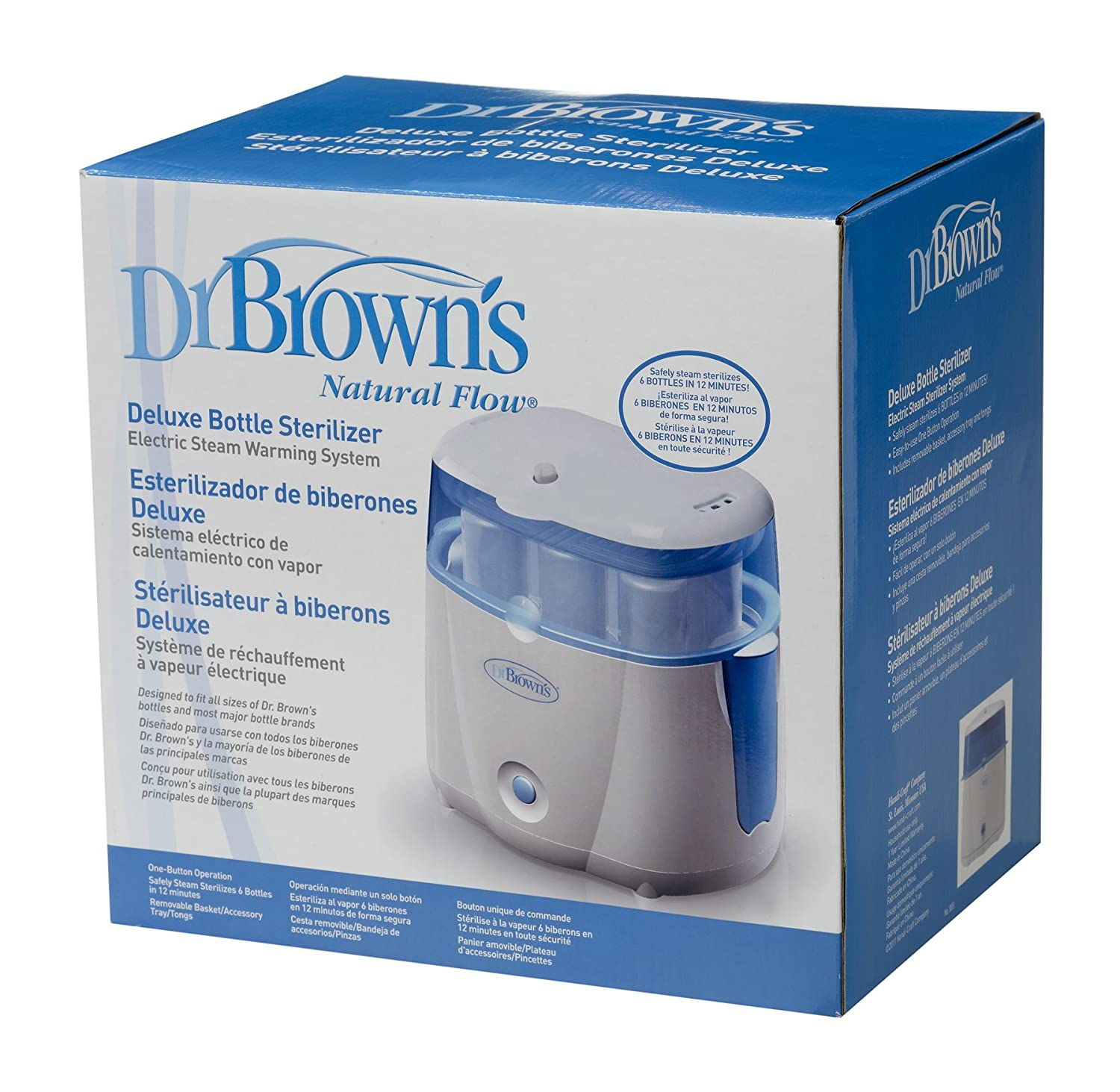 Dr Brown/'s Deluxe Bottle Sterilizer Pack of 1