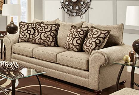 Chelsea Home Furniture Astrid Sofa, Mix Café