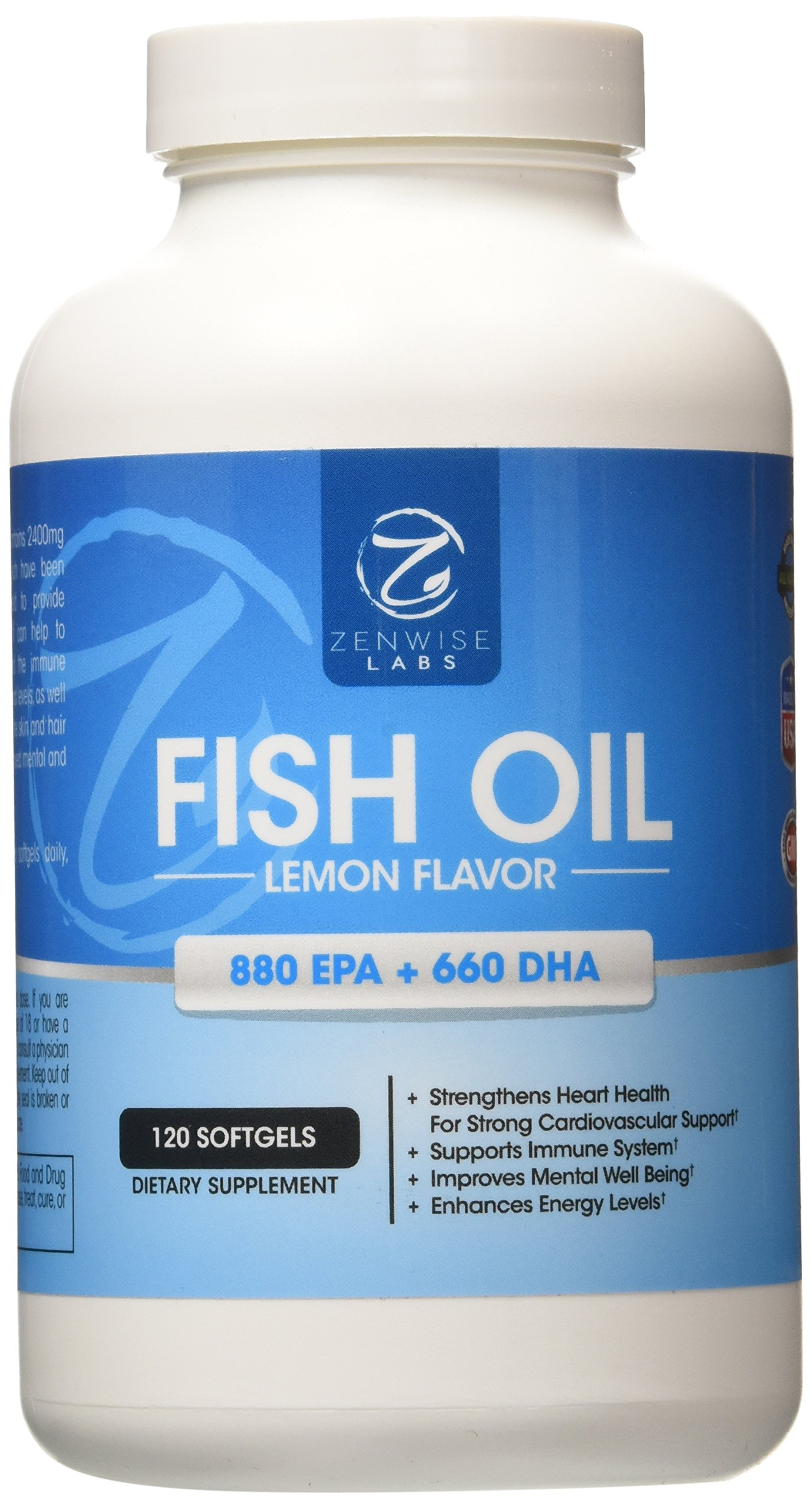 Galleon fish oil pills omega 3 supplement with 880mg for Fish oil inflammation