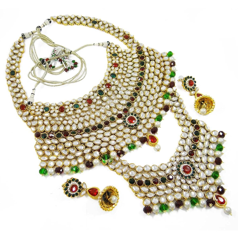 """""""Indian Brautschmuck Vergoldeter Hochzeit Braut-Set Bollywood Kundan Stein Set Geschenk Für Damen"""" jetzt kaufen"""