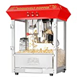 Great Northern Popcorn 6010 Roosevelt Top Antique Style Popcorn Popper Machine, 8-Ounce (Color: Red, Tamaño: Popcorn Machine)
