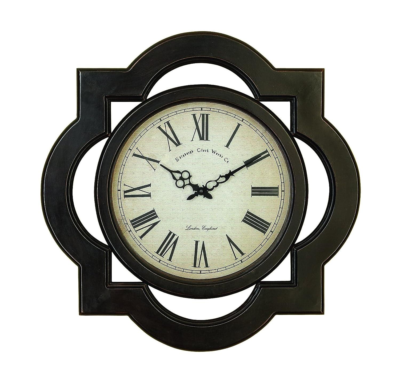 Wood Wall Clock Contemporary Black