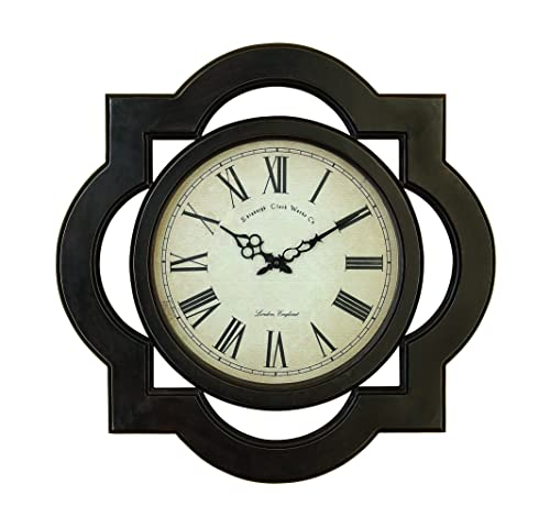 Wood Wall Clock Contemporary Black Modern Large
