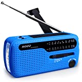 Best NOAA Weather Radio For Emergency By Kozo. Multiple Ways To Charge, Self Powered By Dynamo Hand Crank & Solar Panel, Long Antenna To Pick Up Reception Everywhere