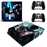 Decal Moments Regular PS4 Console Set Vinyl Skin Decal Stickers Protective for PS4 Playstaion 2 Controllers Venom