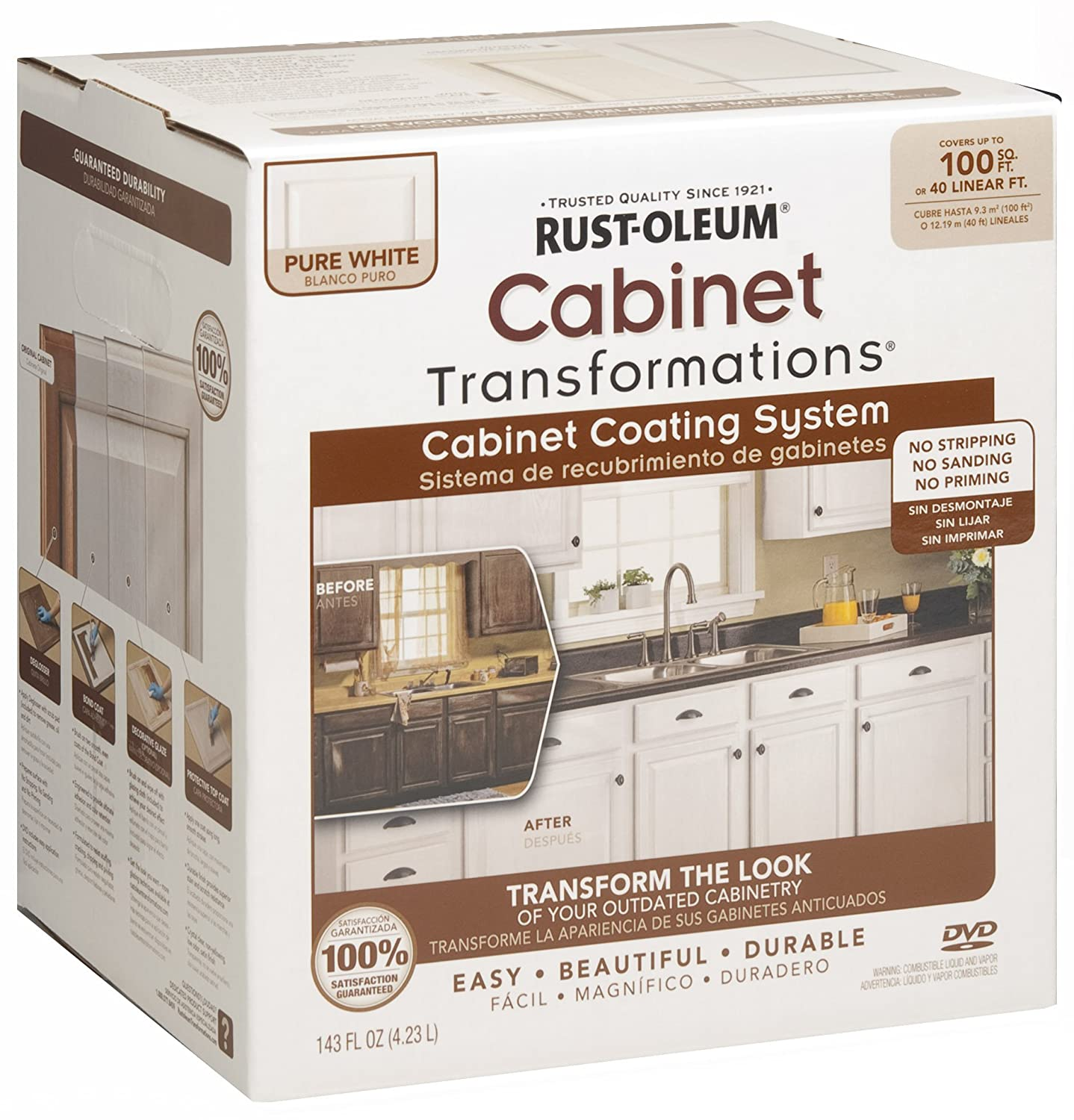 Paint Kits For Kitchen Cabinets: Kelly's Reviews: Rust-oleum Cabinet Transformations