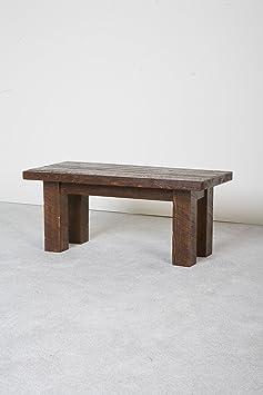 Viking Log Furniture Barnwood Coffee Table, Dark