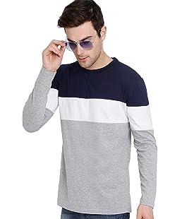 GUTSY Men's Cotton Full Sleeves T-Shirt (Multicolour, X-Large)