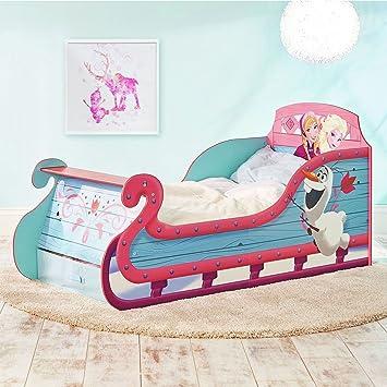 Disney Frozen Traîneau Toddler Bed avec stockage Underbed ainsi que matelas de mousse