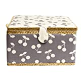 Creations 190412 Korbond Sewing Basket Extra Large Dovetail, Grey (Color: Grey, Tamaño: Extra Large)