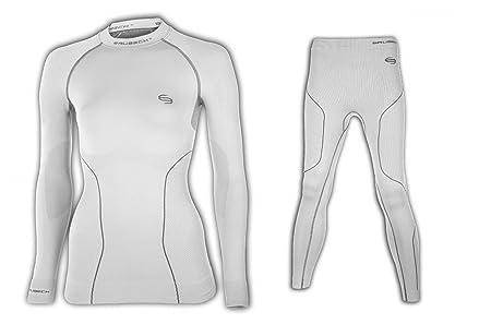 Brubeck ® lS10670 lE10420 sous-vêtements thermiques femme :  shirt long (pantalon thermique de haute qualité sans odeurs anti-bactérien et facile d'entretien)